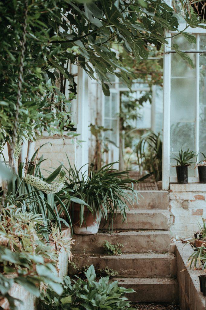 veranda sur un jardin